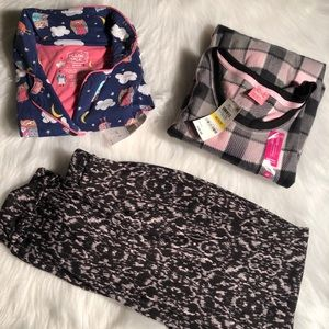 Pillow talk and Jenni pajama shirts with pants NWT